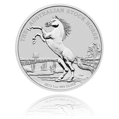 1 Unze Silber Australien Stock Horse 2013