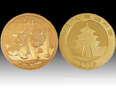 China Panda 1/10 Unze Gold ( 2010 )