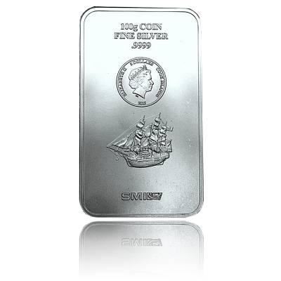 100 gramm Silber Cook Islands Münzbarren