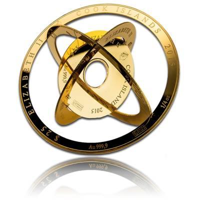 1 oz Gold Cook Island Armillarmünze Valcambi 2015