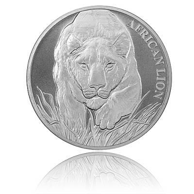 1 oz Silber Afrika Tchad Löwe 2017