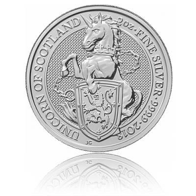 2 Unzen Silber Queens Beasts Unicorn 2018