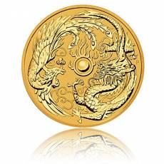 1 Unze Goldmünze Australien Perth Mint Dragon & Phoenix (2018)