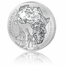 1 Unze Silbermünze 999/1000 Ruanda Giraffe 2018