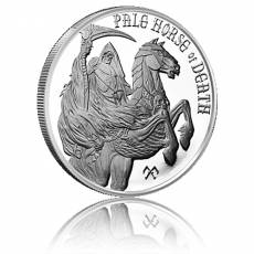 1 oz Silber Four Horsemen of the Apocalypse - Pale Horse of Death 4. Motiv
