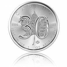 1 Unze Silbermünze 30 Jahre Jubiläums - Maple Leaf 2018