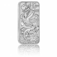 1 oz Silbermünze Perth Mint Rectangular Dragon 2018