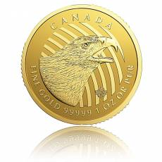 1 Unze Goldmünze (999,99) Call of the Wild - Golden Eagle ( 2018 )