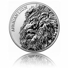1 oz Silber Afrika Tchad Löwe 2018