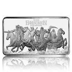 10 oz Silberbarren Four Horsemen of the Apocalypse - Finales Motiv gekapselt