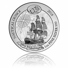 1 Unze Silbermünze Proof Ruanda Nautical Ounce Serie -  Endeavour 2018