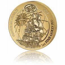 1 Unze Goldmünze Ruanda Nautical Ounce Endeavour 2018