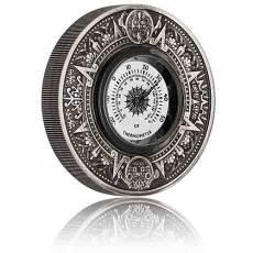 2 Unzen Silbermünze Tuvalu 2 $ - Thermometer Antik Finish 2018