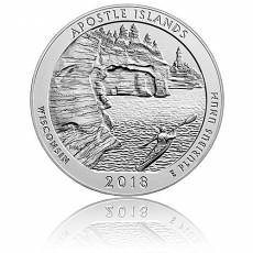5 oz Silber US- Mint Wisconsin - Apostle Islands (2018)
