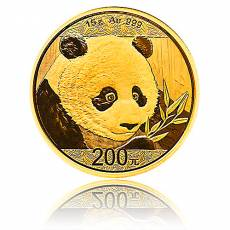 China Panda 15 gramm Gold (2018)