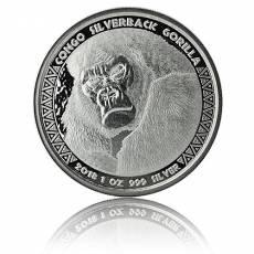 1 oz Silber Silberrückengorilla Kongo (2018)