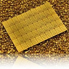 50 x 1 gramm Gold - Tafelbarren