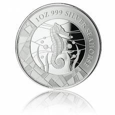 1 Unze Silbermünze Samoa Seepferdchen Prooflike 2018