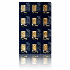 12 x 1 gramm Goldbarren 999,9/1000 PAMP Multigram