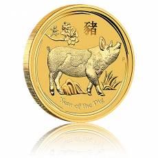 Australien Lunar Schwein 1/4oz Goldmünze (2019)