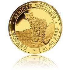 1 Unze Goldmünze Somalia African Wildlife Leopard 2018 1.Motiv