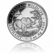 Somalia Elefant 1 Unze Silber (2019)