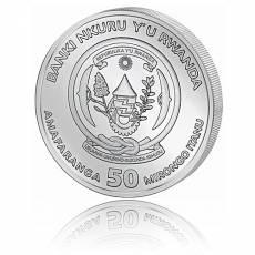 1 Unze Silbermünze 999/1000 Ruanda Schuhschnabel PP 2019