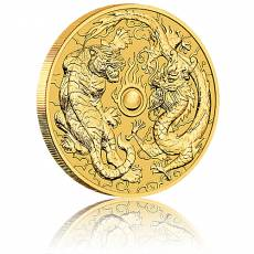 1 Unze Goldmünze Australien Perth Mint Dragon & Tiger (2019)