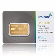 10 gramm Umicore - Goldbarren 999,9/1000