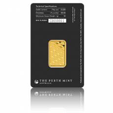 10 gramm Goldbarren Perth Mint - Känguru 999,9/1000