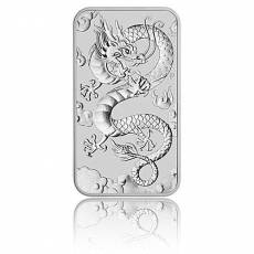 1 oz Silbermünze Perth Mint Rectangular Dragon 2019