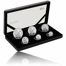 6 Coin-Set Britannia Silber PP 2019
