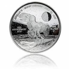 1oz Silbermünze 50 Jahre Mondlandung PP gewölbt (2019)