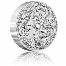 10 oz Silbermünze Australien Perth Mint Dragon & Phoenix (2019)