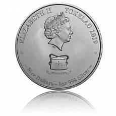1 Unze Silbermünze Tokelau Karettschildkröte - Fonu Loggerhead 2019