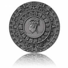2 oz Silbermünze Mayan Calendar - Archeology Symbolism High Relief Antik Finish Niue Island (2018)