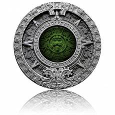 2 oz Silbermünze Aztec Calendar High Relief Antik Finish Niue Island (2019)