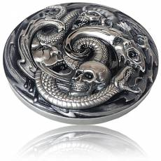 3 oz Silbermünze Pandoras Box - Evil within Antik Finish Epic High Relief (2019)