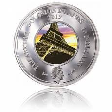 5 oz Silbermünze 130 Jahre Eiffelturm Paris Polierte Platte (2019)