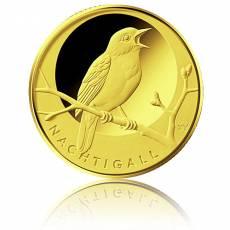 20 Euro Goldmünze Heimische Vögel - Nachtigall 2016 (F)