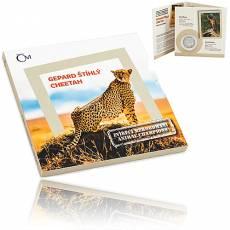 1 oz Silbermünze Animal champions- Cheetah 2019