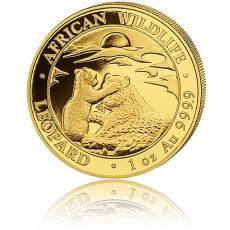 1 Unze Goldmünze Somalia African Wildlife Leopard 2019 2.Motiv