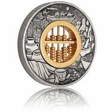 2 Unzen Silbermünze Tuvalu 2 $ - Abakus Antik Finish 2018