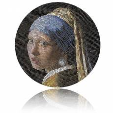 3 oz Silbermünze Girl Pearl Earring Vermeer Great Micromosaic Passion (2019)