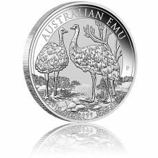 1 Unze Silbermünze Australien Emu 2019
