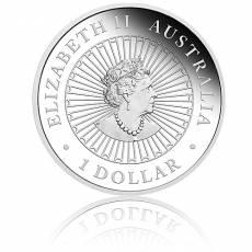 1 oz Silbermünze Australien Opal-Serie Lunar Schwein 2019