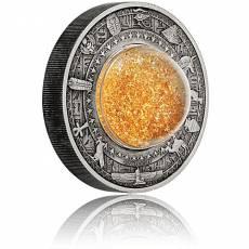 2 Unzen Silbermünze 2 $ - Schätze des alten Ägypten Antik Finish 2019