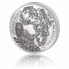 1 Unze Silbermünze 999/1000 Ruanda Löwe privy F15 2010 (in orginal F15 Viereck-Münzkapsel)