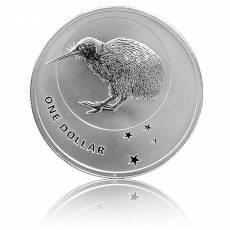 Neuseeland Kiwi  1 Unze Silber (2010) Umlaufware in F15 Kapsel