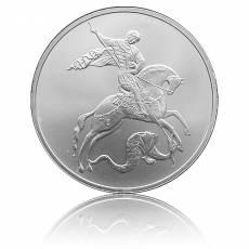 1 Unze Silbermünze 3 Rubel St. George Drachentöter in orginal F15 Münzkapsel (2010) Umlaufware